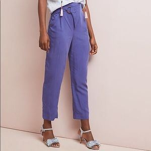 Anthropologie Cupro Wrap Trouser Pants